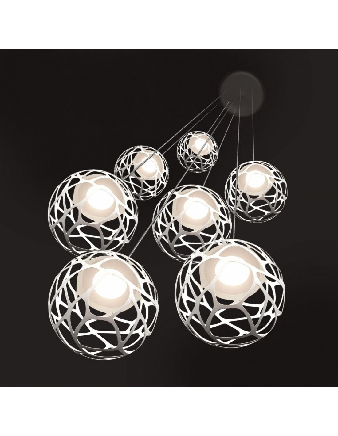 suspension multiple kelly cluster 7 spheres so3. Black Bedroom Furniture Sets. Home Design Ideas