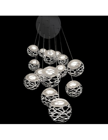 suspension multiple kelly cluster 14 spheres so4. Black Bedroom Furniture Sets. Home Design Ideas