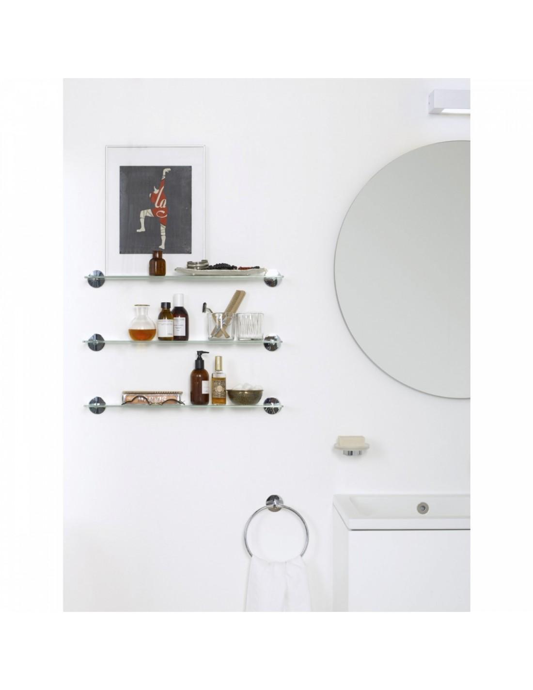 porte serviette mural anneau coller duo round. Black Bedroom Furniture Sets. Home Design Ideas