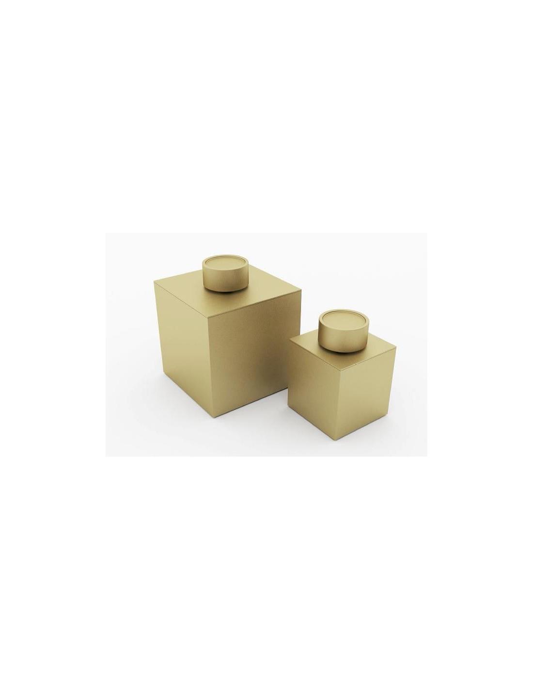 bo te de rangement avec couvercle grand mod le finition or mat. Black Bedroom Furniture Sets. Home Design Ideas