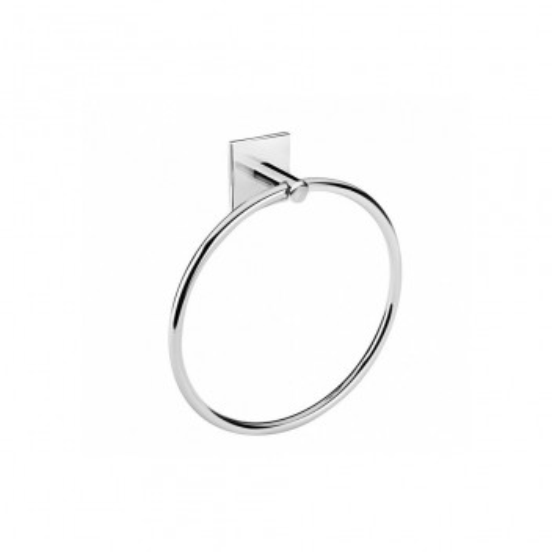 Porte serviette anneau à coller Duo Square