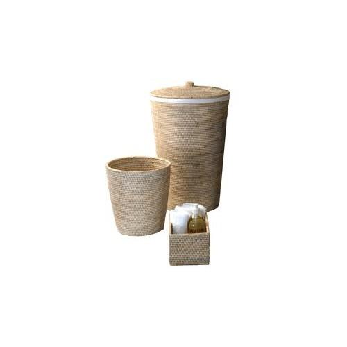 Set panier à linge et corbeille à papier Basket