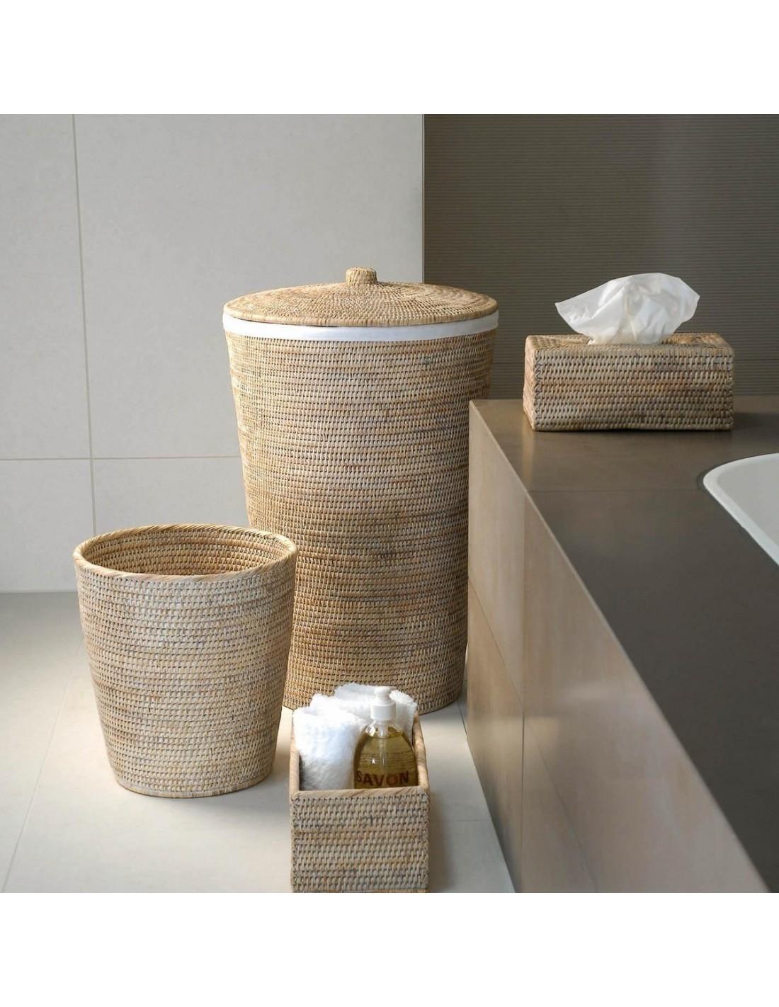 Set panier linge et corbeille papier basket - Panier a linge 2 compartiment ...