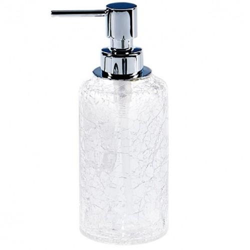 Distributeur de savon liquide Crack finition chromée