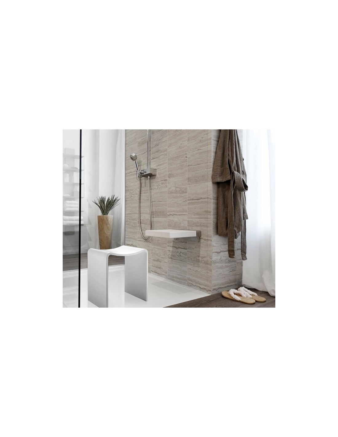tabouret de douche. Black Bedroom Furniture Sets. Home Design Ideas