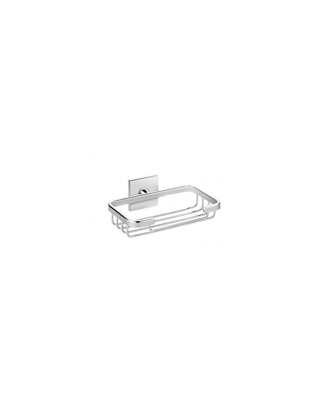 Porte savon filaire coller duo square valente design for Decoration a coller sur porte