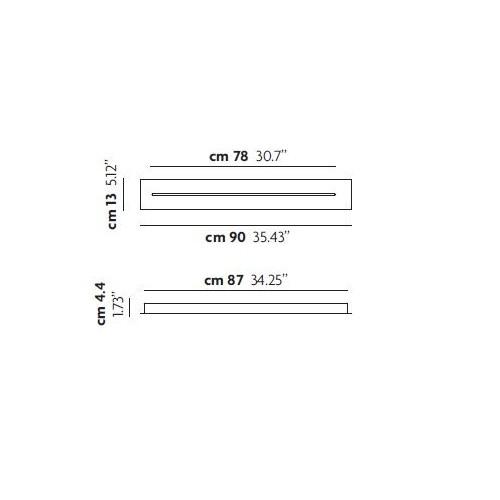 Patère linéaire 90 cm pour suspension