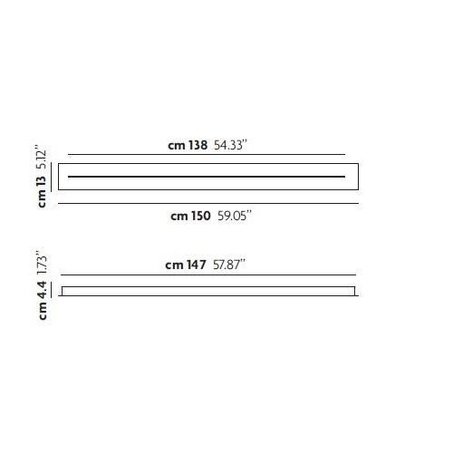 Patère linéaire 150 cm pour suspension