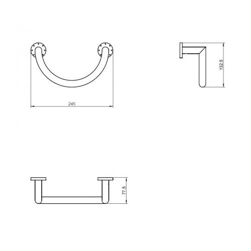 Porte serviette anneau rond Kubic Dual