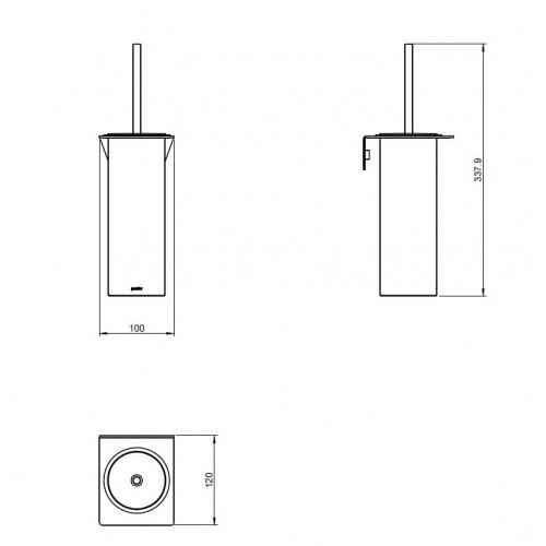 Porte balai à suspendre Kubic Dual