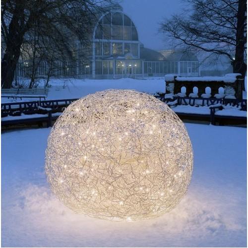Lampe de Sol Fil de Fer Ø70 cm LED Outdoor