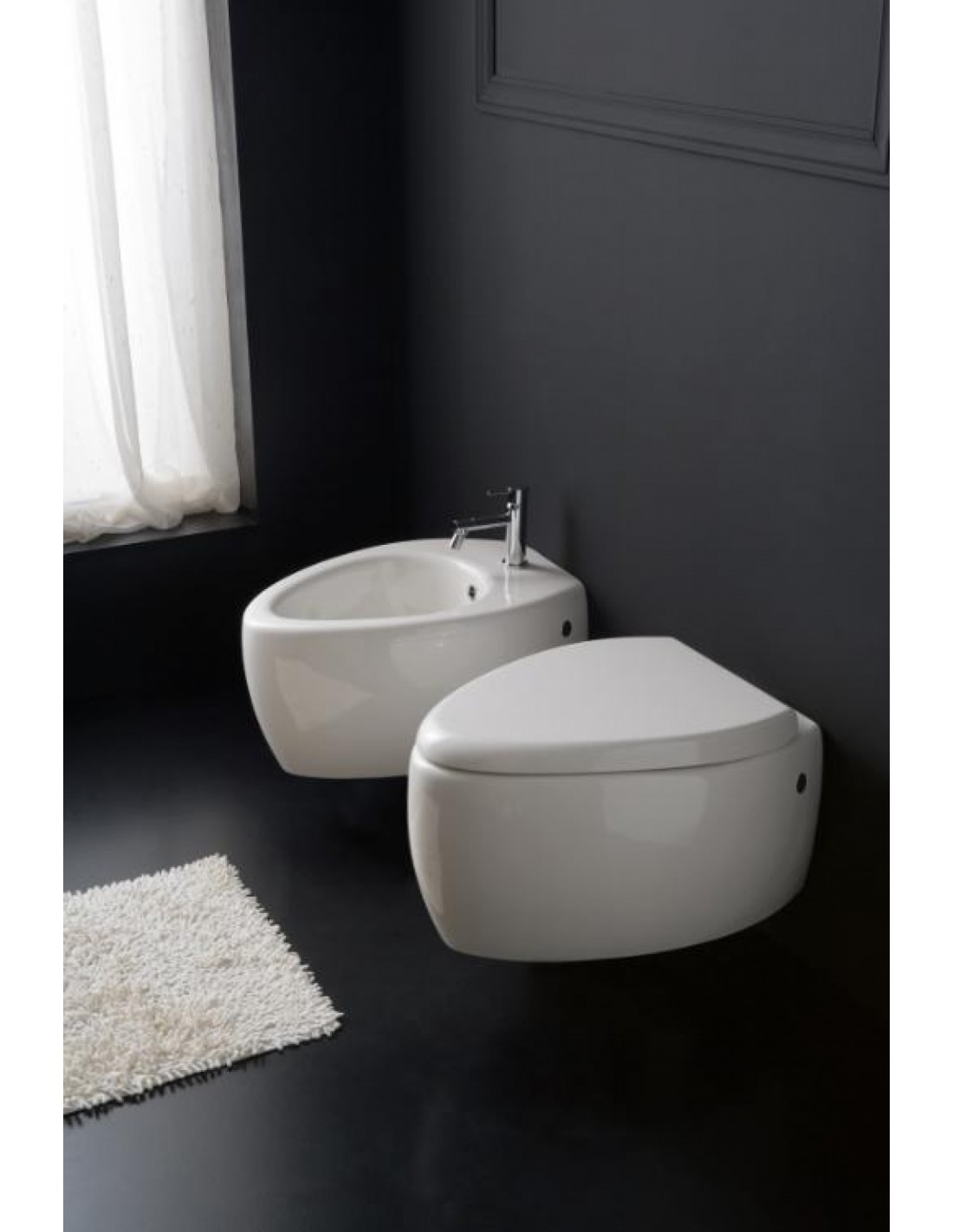 bidet suspendu moai. Black Bedroom Furniture Sets. Home Design Ideas