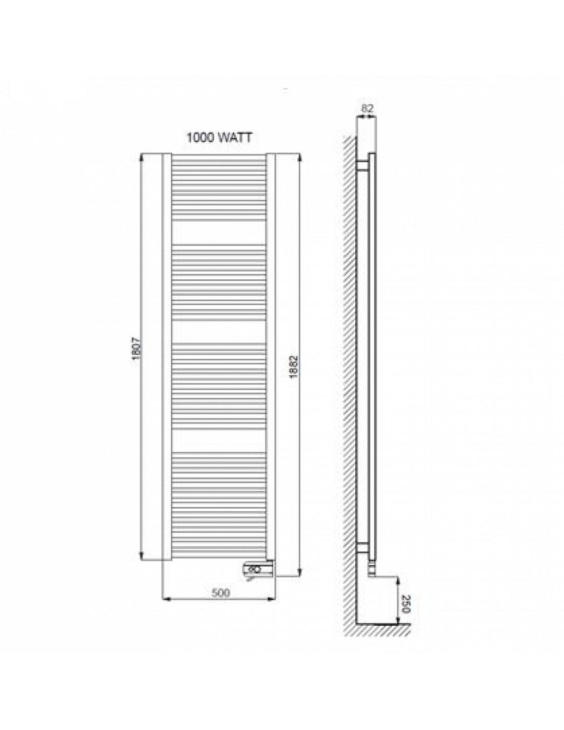 seche serviette electrique 1000w. Black Bedroom Furniture Sets. Home Design Ideas