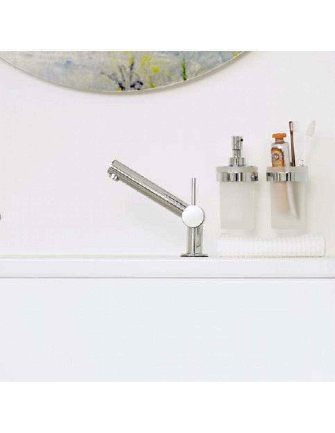 Distributeur de savon liquide mural verre coller duo round for Distributeur de savon mural design