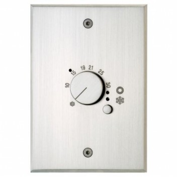 Plaque Rectangulaire Habillage Thermostat Nickel Brossé