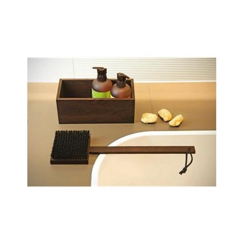 Set brosse de bain et boîte multi usages Wood