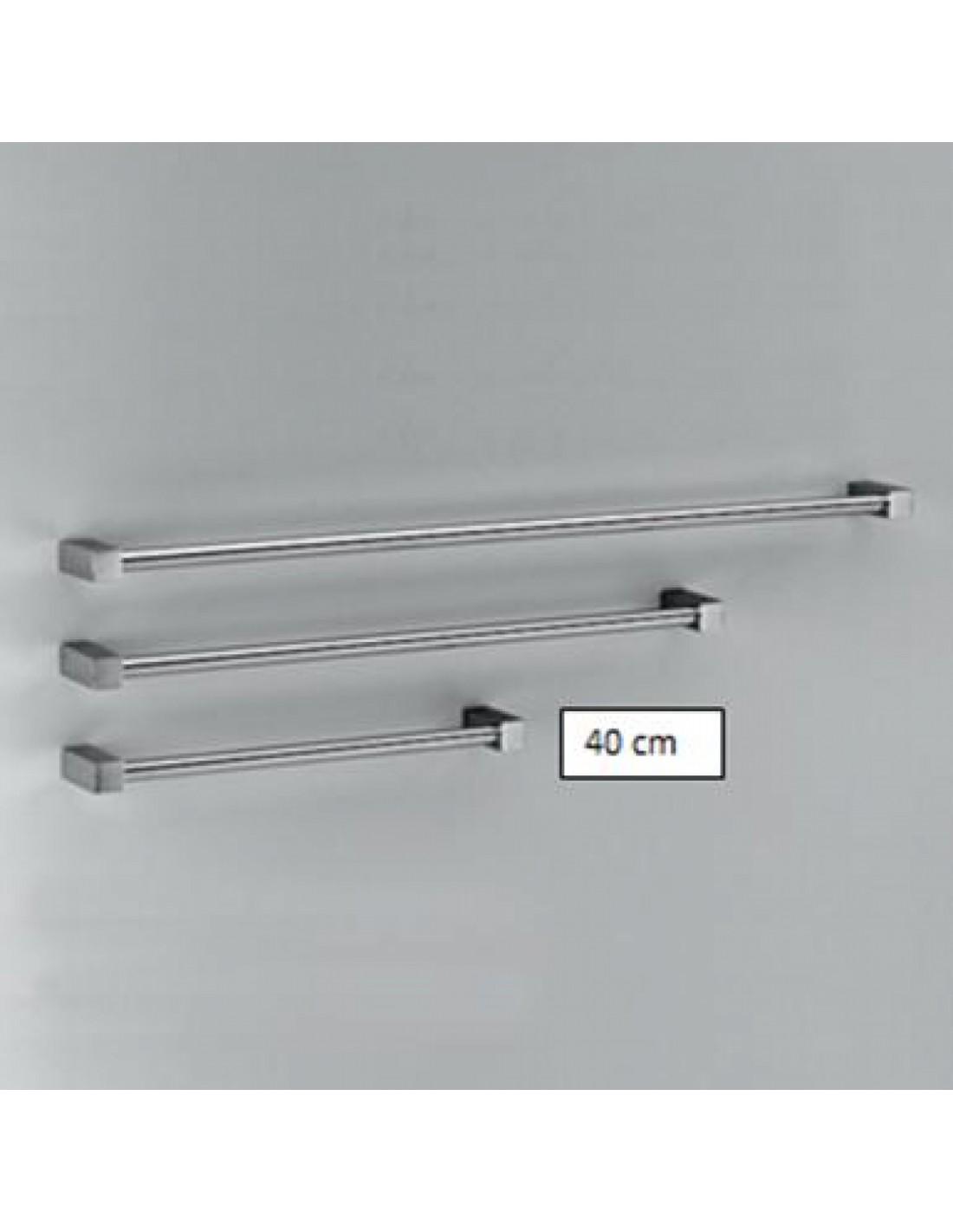 Porte serviette 40 cm bloque for Porte serviette double