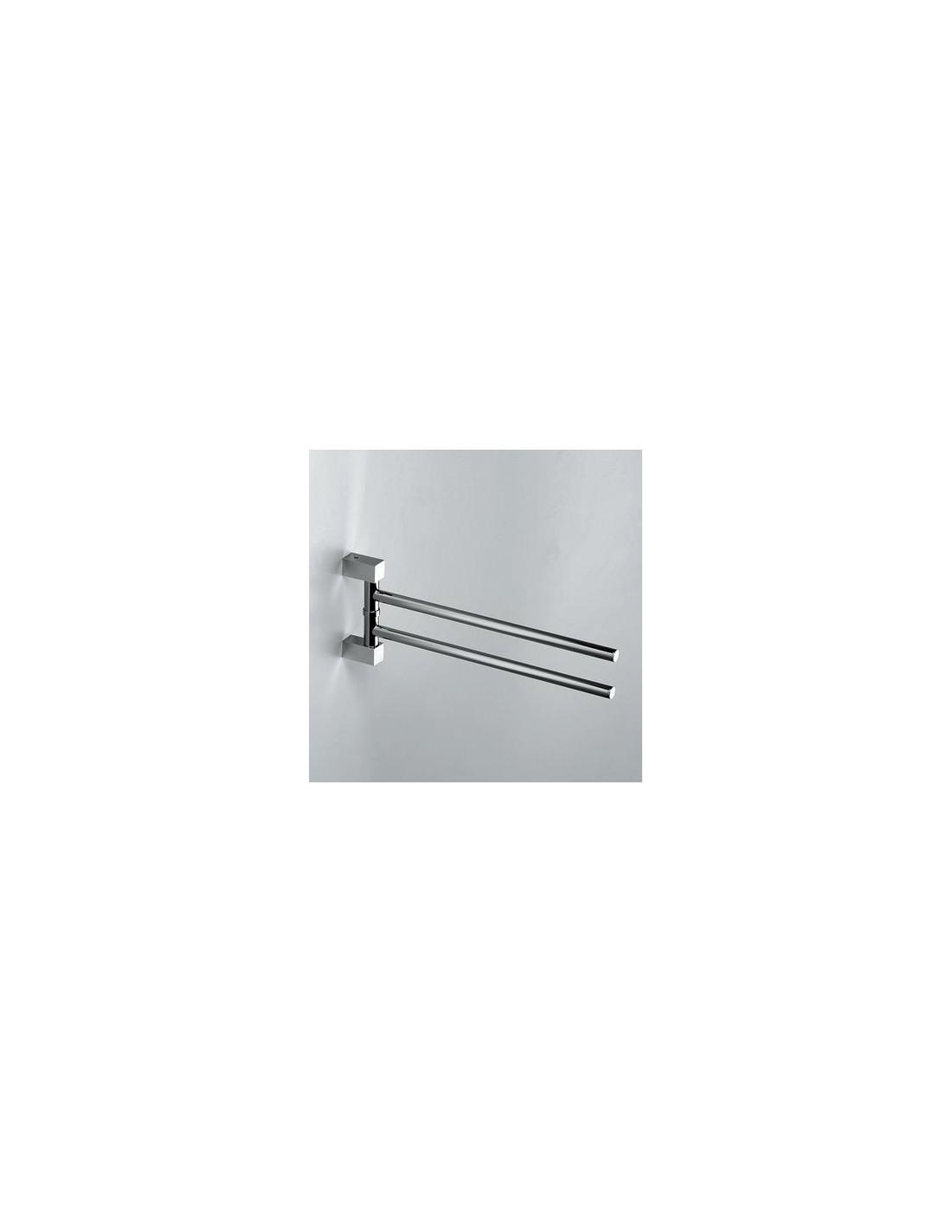 Porte serviettes double giratoire bloque for Porte serviette double