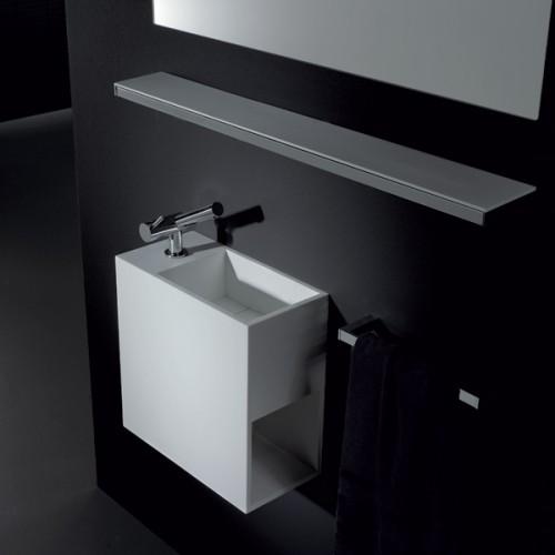 Vasque avec rangement latéral Compact percement à gauche