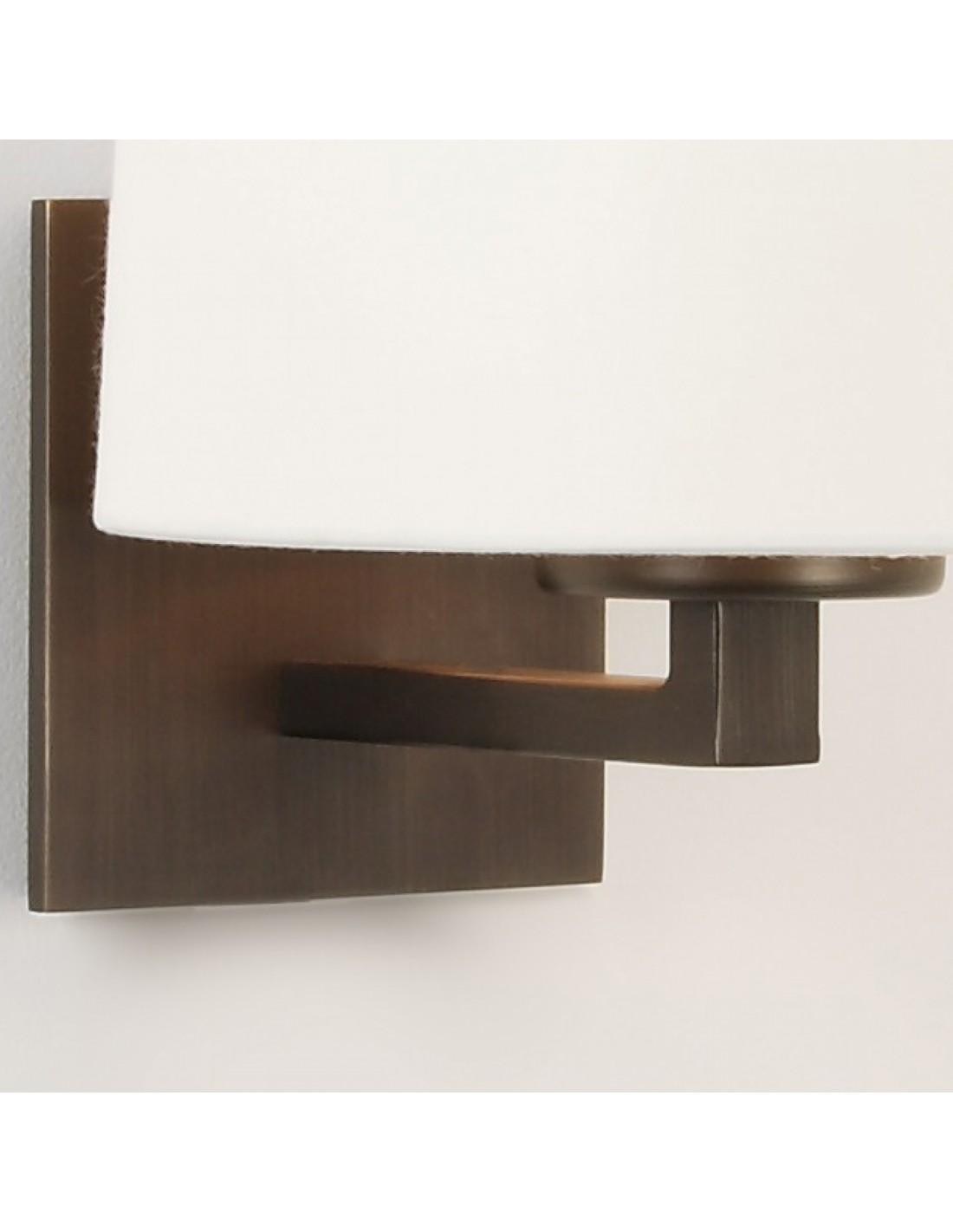 applique azumi bronze avec abat jour rond. Black Bedroom Furniture Sets. Home Design Ideas