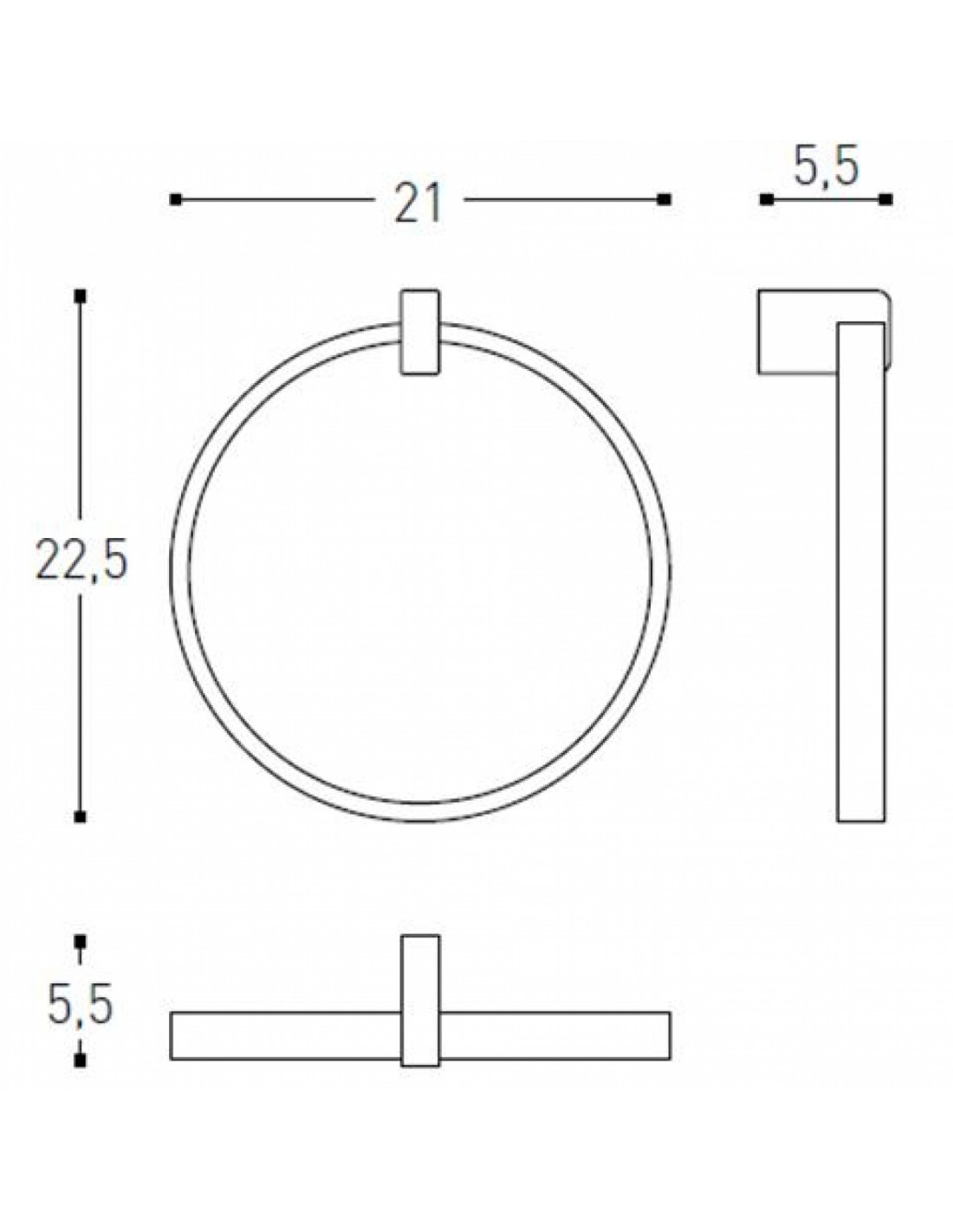 Porte serviette anneau Extreme
