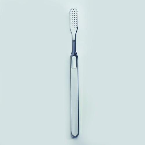 Brosse à dents chromée