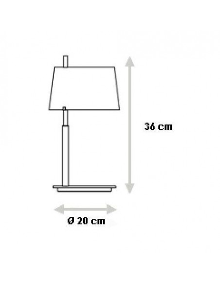 Lampe de table Passion Small plan  Fontana Arte
