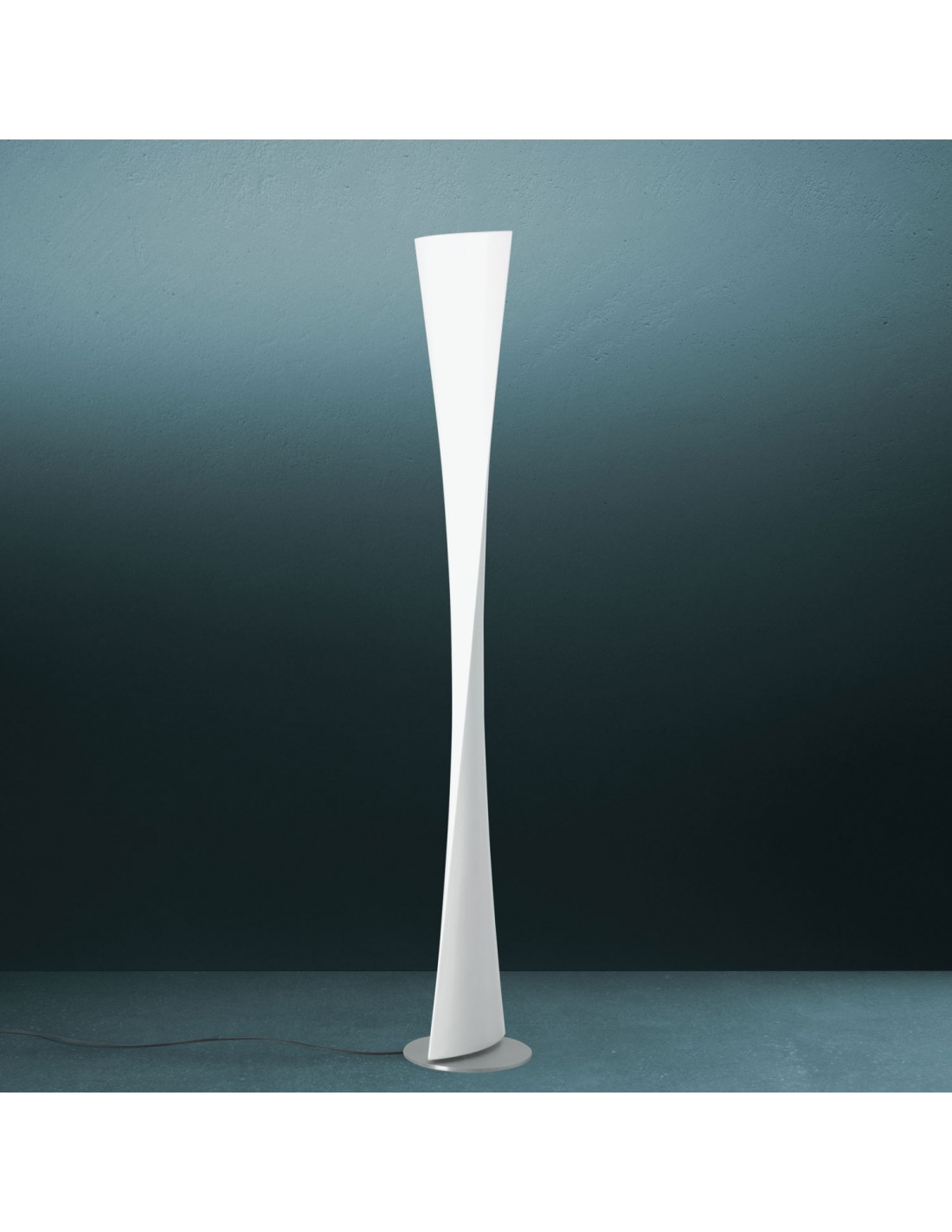 Lampadaire Polaris blanc vue d'ensemble