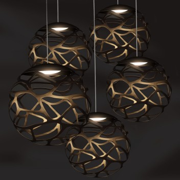 Suspension multiple kelly cluster 5 spheres en bouquet