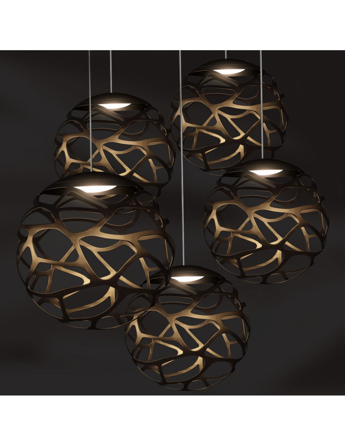 multiple kelly cluster 5 spheres de studio italia design. Black Bedroom Furniture Sets. Home Design Ideas
