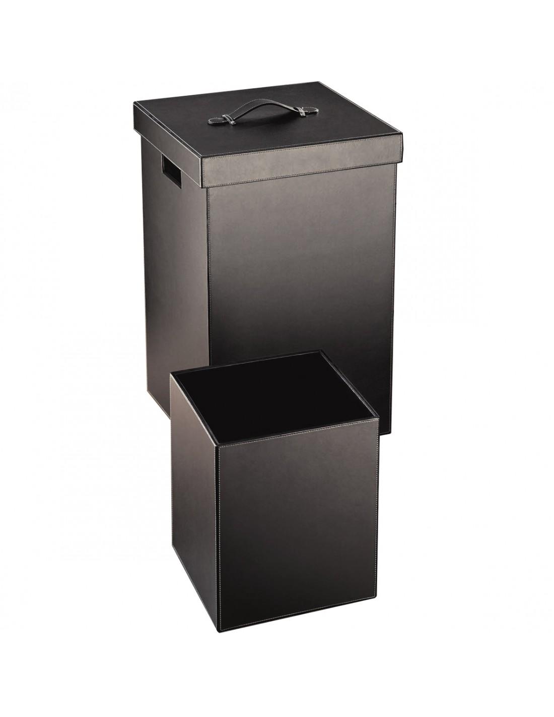 set panier linge et corbeille papier brownie. Black Bedroom Furniture Sets. Home Design Ideas
