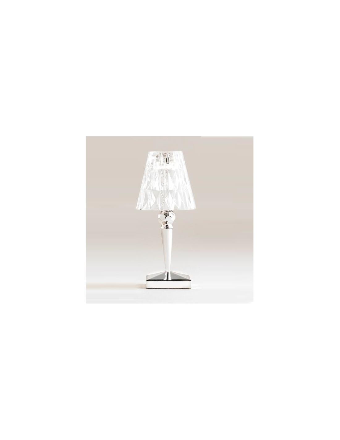 LAMPE DE TABLE BATTERY kartell MÉTALLISÉE chrome pour la marque Kartell