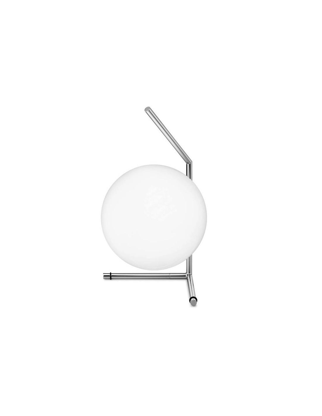 Lampe à poser IC T1 LOW chrome de flos Valente Design Michael Anastassiades