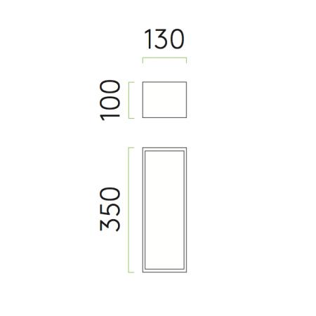 Applique Messina 130 astro lighting plan dimensions