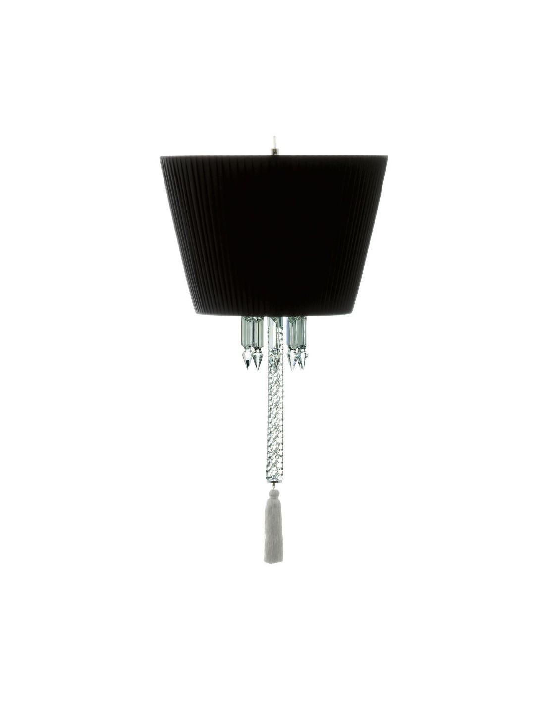 Abat-jour noir pour suspension Torch de la marque Baccarat - Valente design