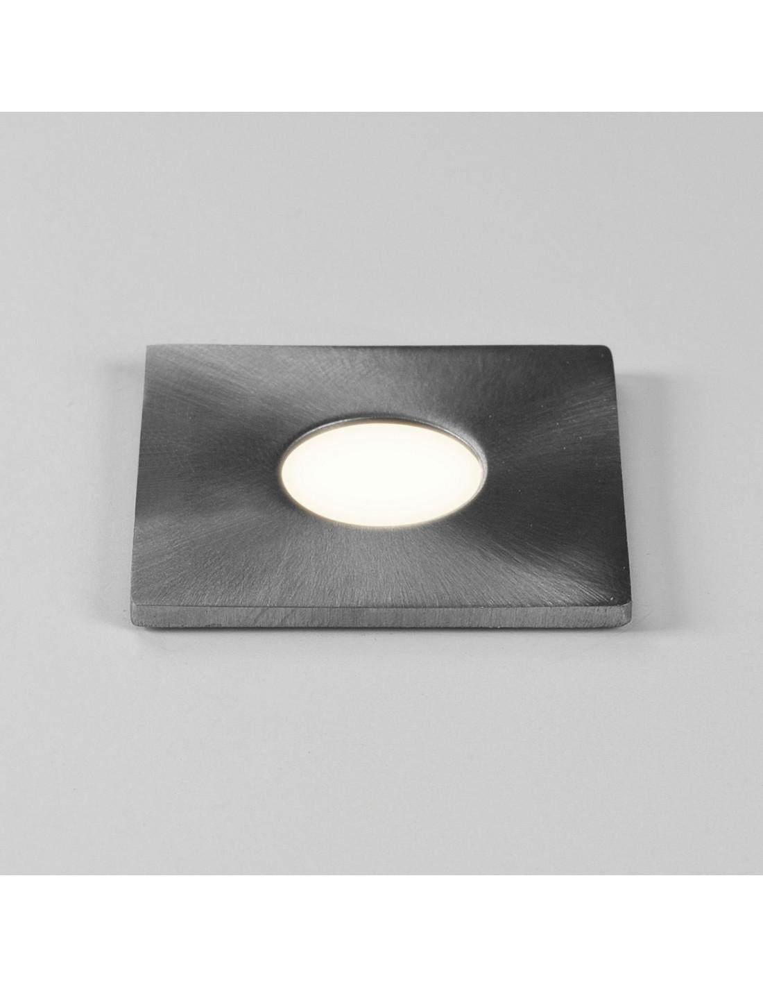 Spot encastré Terra 28 Led carré acier inoxydable brossé astro lighting