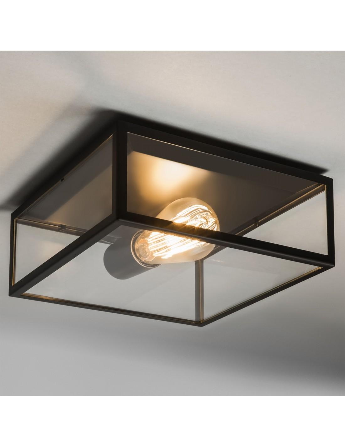 Plafonnier Bronte noir astro lighting vue d\'ensemble
