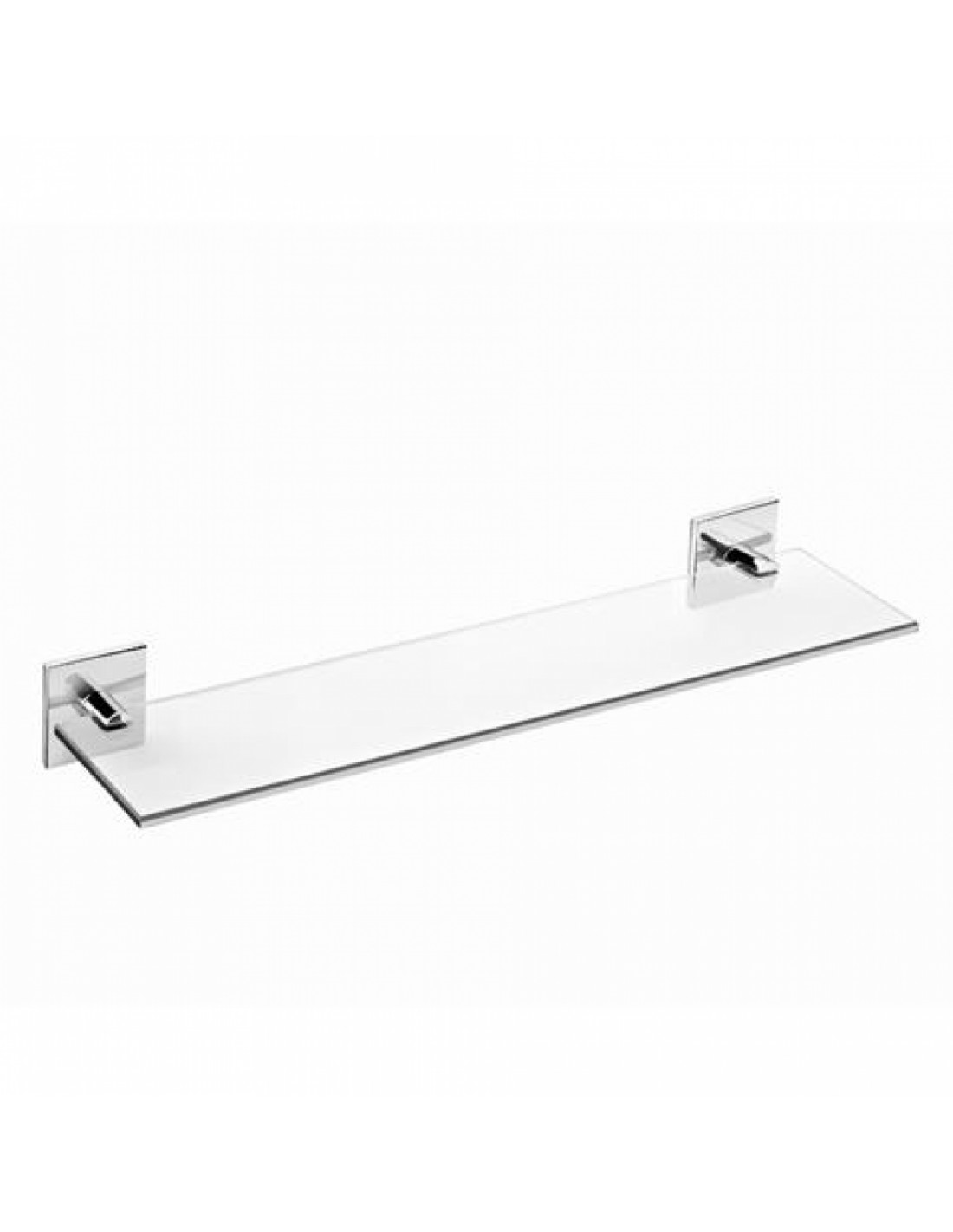 Tablette salle de bain en verre 40 cm coller duo square for Salle de bain 67