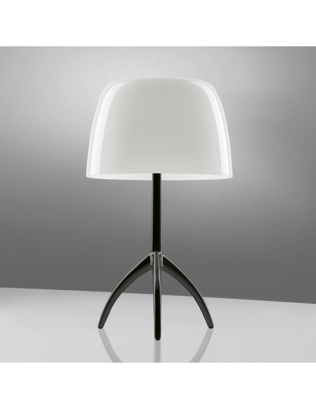 Lampe de table Lumière 05 Grande Chrome noir et blanc