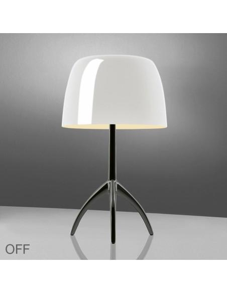 Lampe de table Lumière 05 Grande Chrome noir