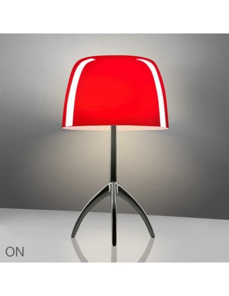 Lampe de table Lumière 05 Grande Chrome rouge