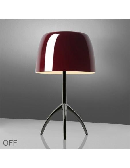 Lampe de table Lumière 05 Grande Chrome cerise