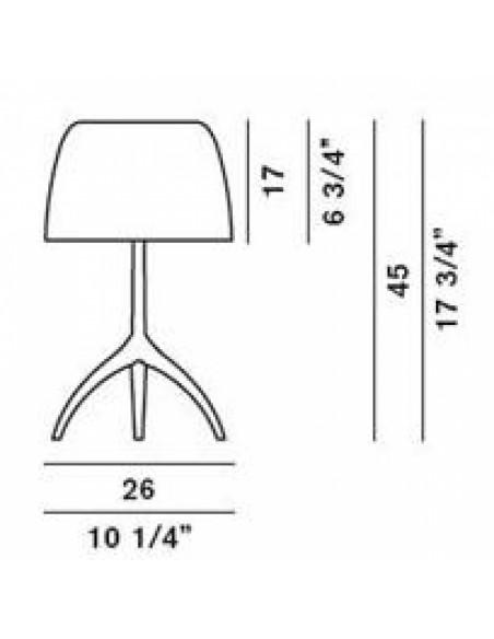 Lampe de table Lumière 05 Grande Chrome noir plan