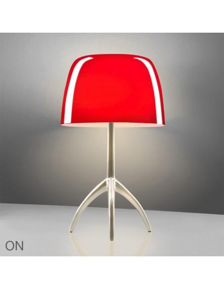 Lampe de table Lumière 05 Grande Champagne rouge