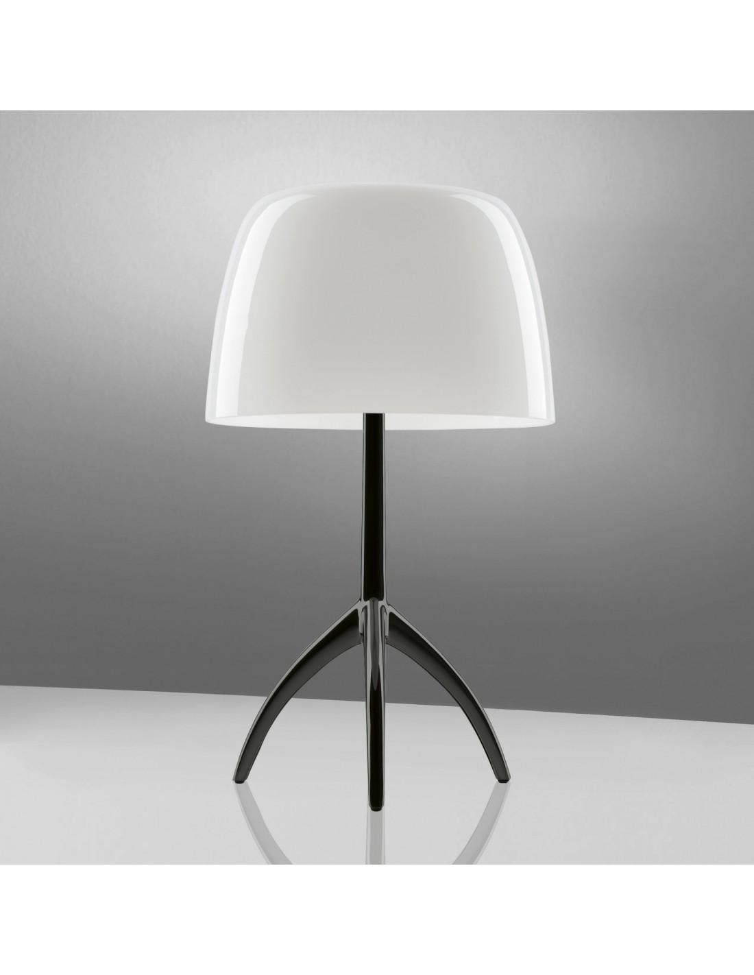 Lampe de table Lumière 05 Piccola Chrome noir