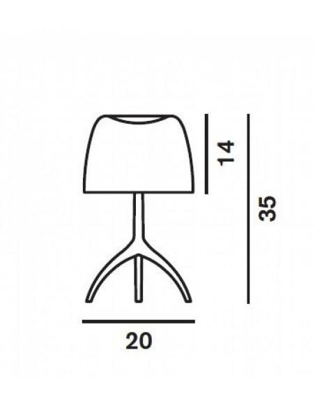 Lampe de table Lumière 05 Piccola Chrome noir plan