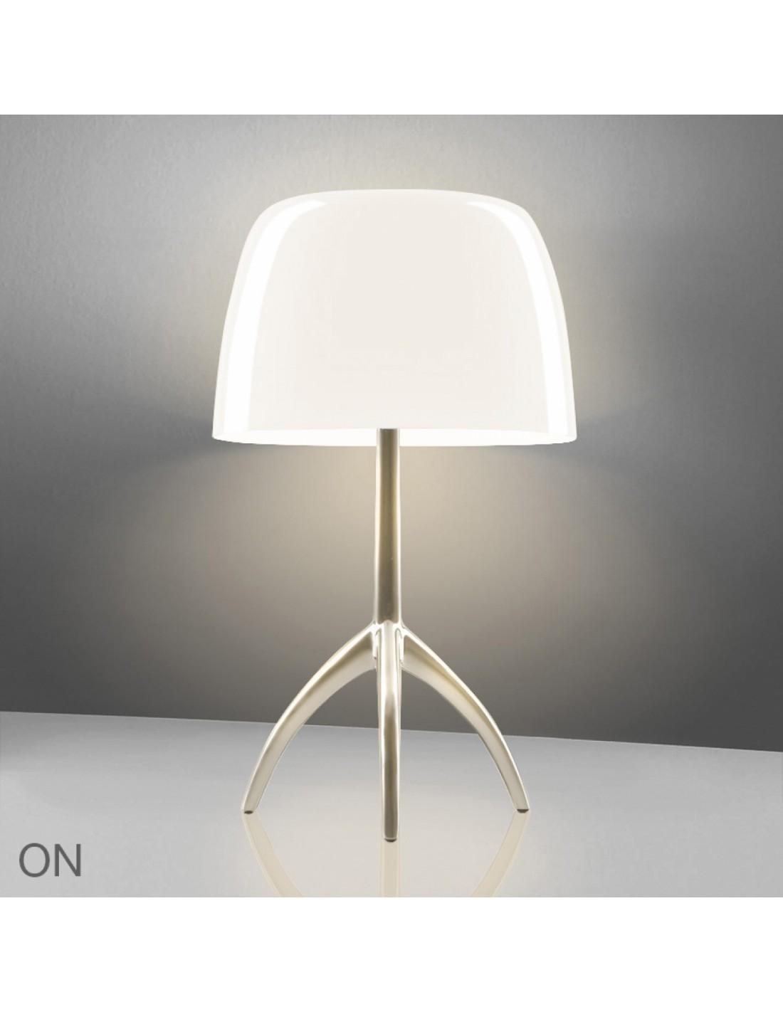 Lampe de table Lumière 05 Piccola Champagne blanc crème