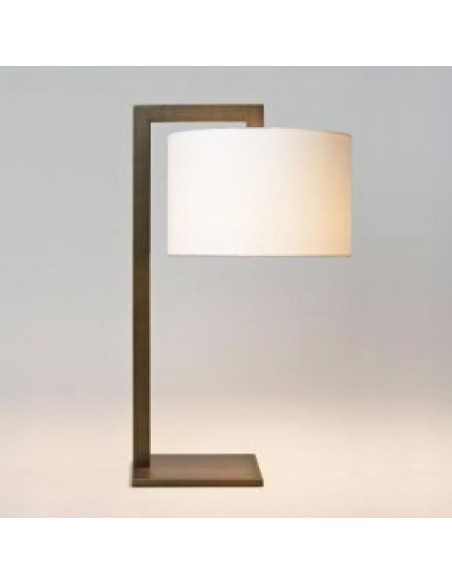lampe de table ravello blanc bronze et abat-jour blanc astro lighting de profil - Valente Design