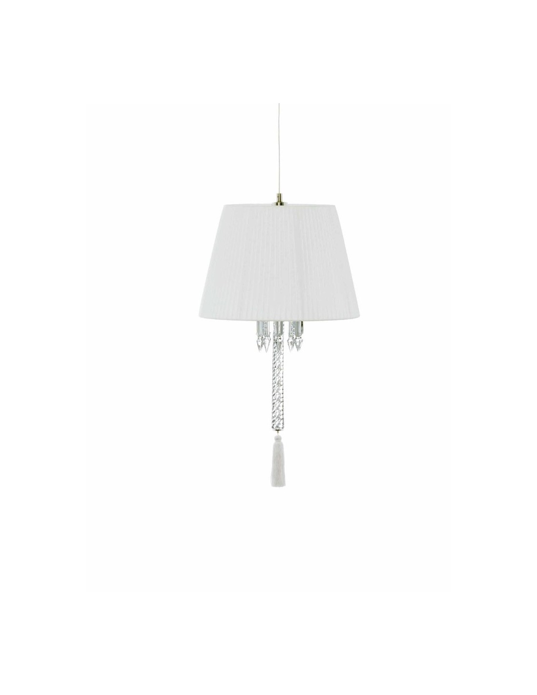 Suspension torch abat jour blanc for Abat jour blanc cylindrique