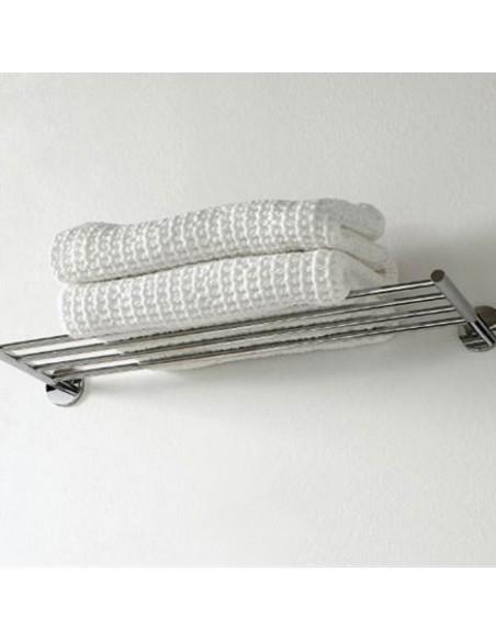 Rack porte serviettes à coller Duo Round par Bath+